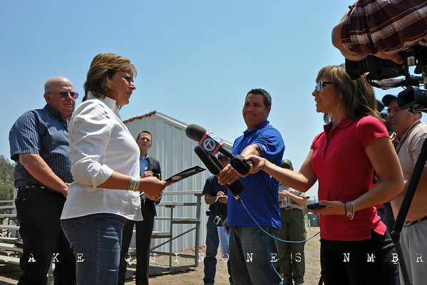 New Mexico Governor Susana Martinez provides a brief public statement saying that the New Mexico National Guard will provide additional support to the Wallow Fire firefighting efforts and FEMA assistance will be available for fire affected New Mexicans.-Reserve, NM