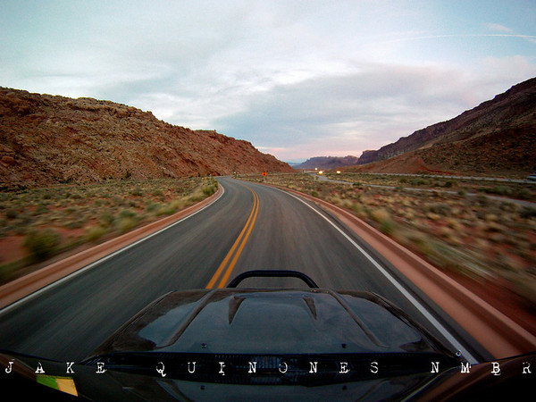 View from the GoPro HD- Exit at Arches National Park, Moab, UT