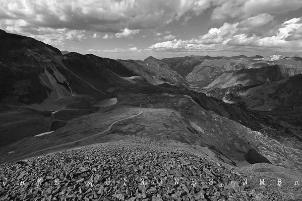 Vantage from Brown Mountain - View towards Uncompahgre Peak, Engineer Mountain, Matterhorn Peak and the Alpine Plateau - San Juan Mountains, CO