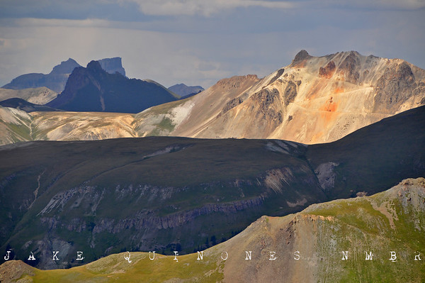 Vantage from Brown Mountain II - View towards Uncompahgre Peak, Engineer Mountain, Matterhorn Peak and the Alpine Plateau - San Juan Mountains, CO