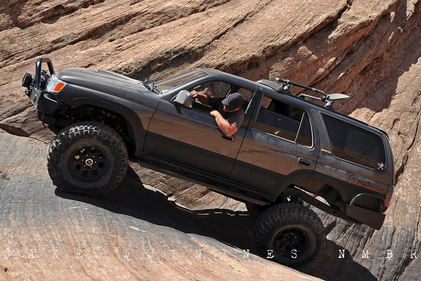 Hell's Revenge Trail Run- Piloting the NMBR 4Runner up the Hell's Gate Obstacle.- Moab, UT (Cruise Moab 2011, Photo by George Zoros)